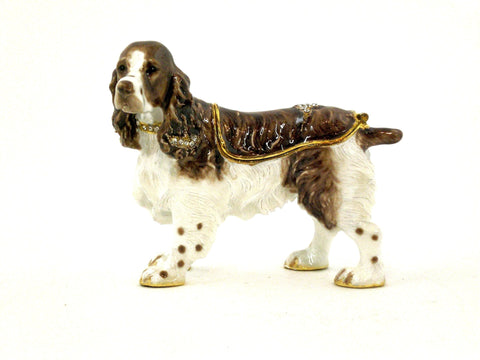 Springer Spanial Dog Trinket Box