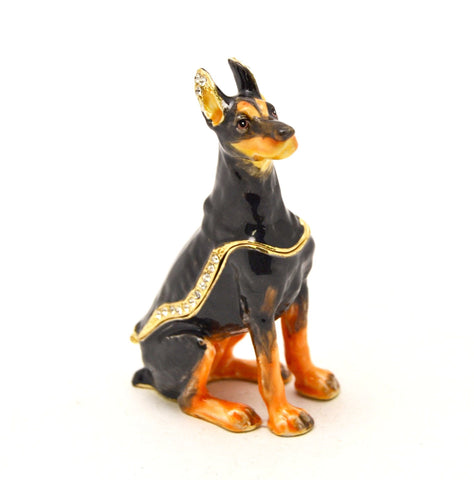 Doberman Dog Trinket Box