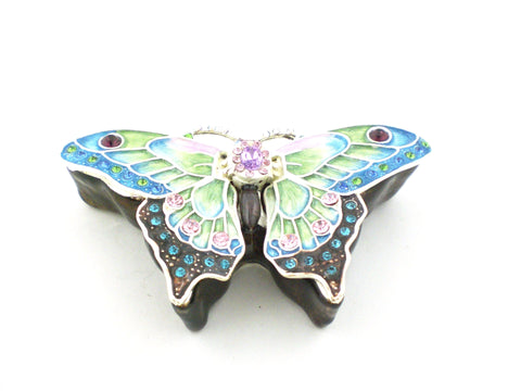 Butterfly Jeweled Trinket Box