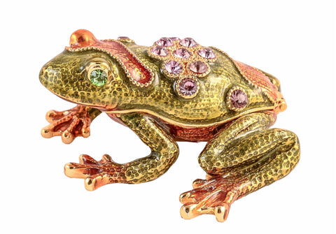Leaping Frog Trinket Box