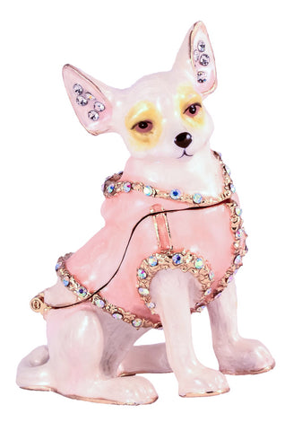 Chihuahua Dog Trinket Box