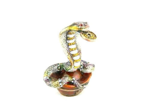 Snake Holding a Coin in Mouth Trinket Box