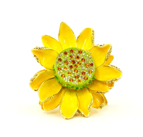 Sunflower Trinket Box