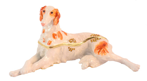 Big Borzoi Dog Trinket Box