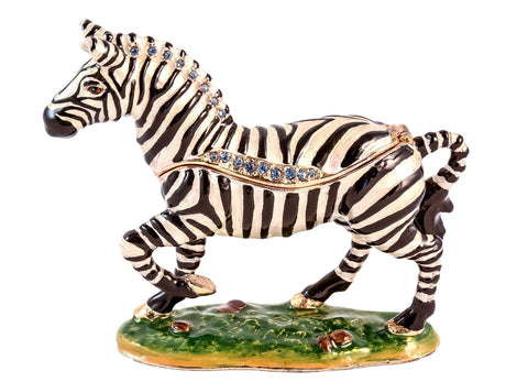 Striding Zebra Trinket Box