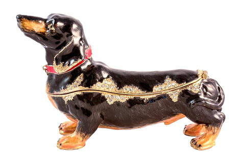 Large Dachshund Trinket Box
