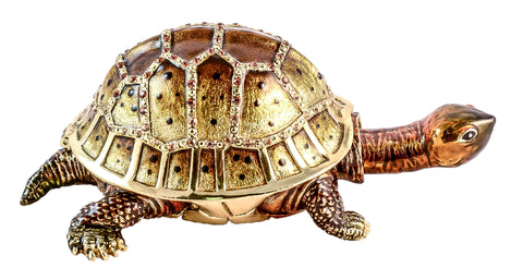 Large Turtle with Movable Neck Trinket Box