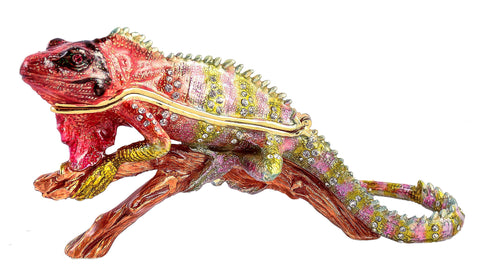 Iguana on on Branch Trinket Box
