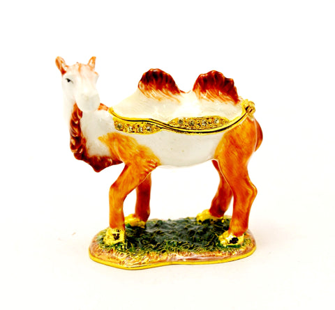 Double Hump Standing Camel Trinket Box