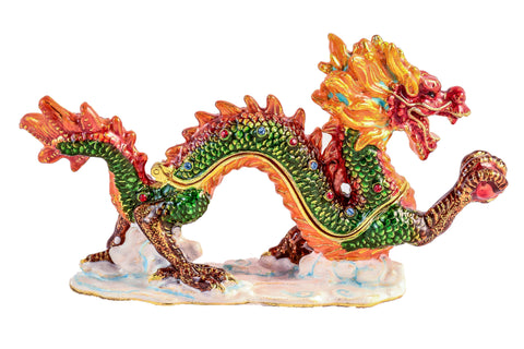 Asian Dragon Trinket Box