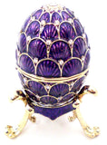 Faberge Style Egg Trinket Box with Stand