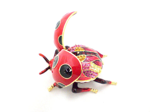 Flying Ladybug Trinket Box