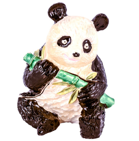 Panda with Bamboo Trinket Box