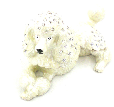Poodle Laying Down Trinket Box