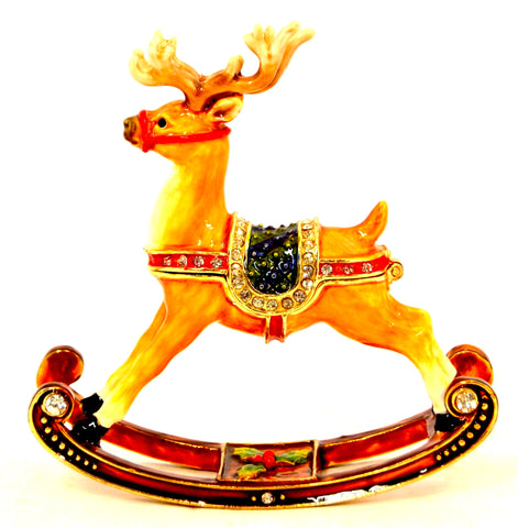 Rocking Reindeer Trinket Box