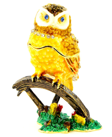 Owl on Branch Trinket Box