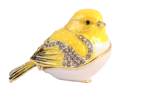 Goldfinch Bird Small Trinket Box