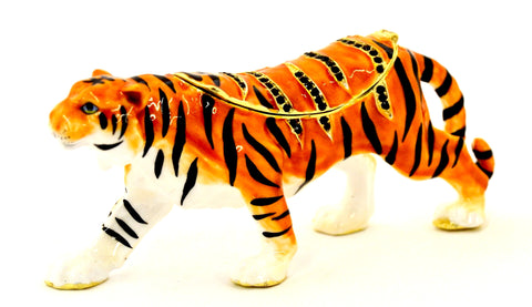Tiger Standing Trinket Box