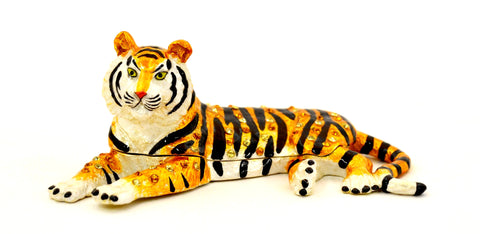 Sitting Tiger Trinket Box