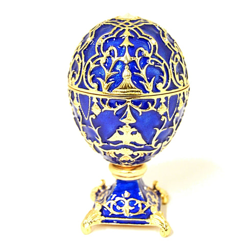 Russian Design Egg Trinket Box