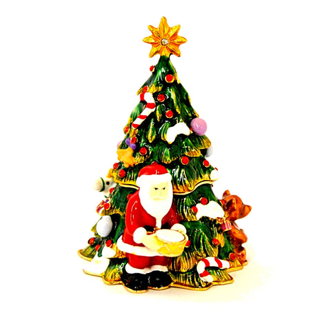Christmas Tree with Santa Trinket Box