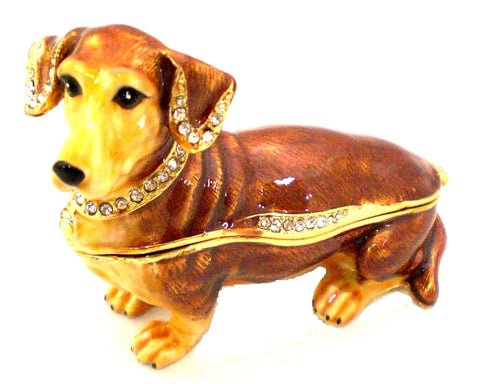 Dachshund Dog Trinket Box