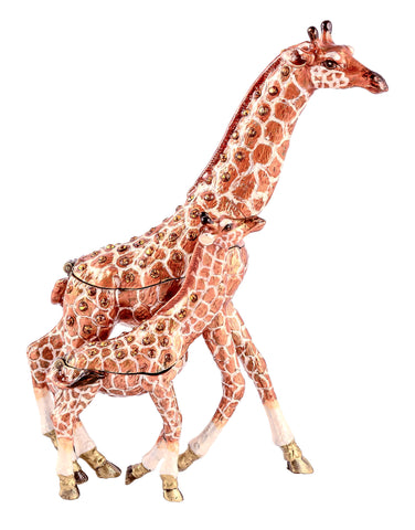 Giraffe with Baby Detachable Trinket Box