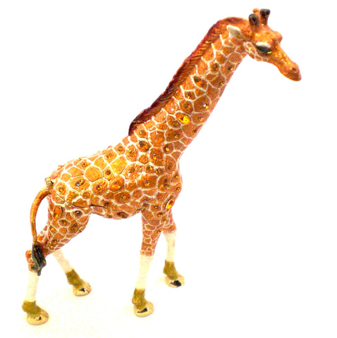 Tall Standing Giraffe Trinket Box