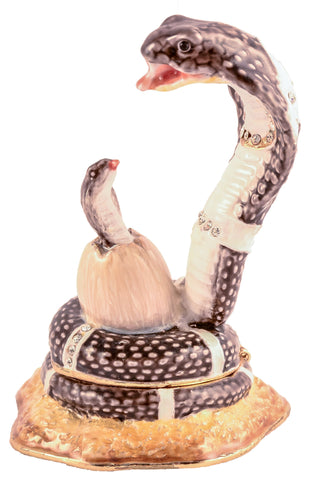 Snake with Baby Trinket Box