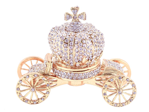 Cinderella Crown Carriage Trinket Box