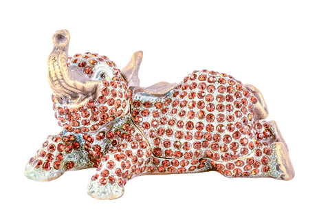 Elephant Laying Down Trinket Box
