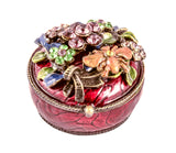 Floral and Bee Jewelry Trinket Box