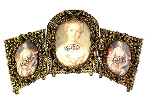 European Vintage Triple Picture Frame