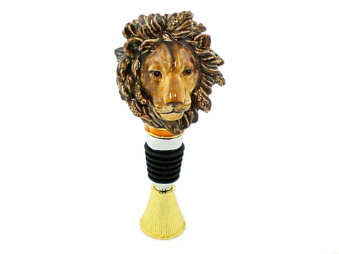 Lion Head Wine Bottle Stopper