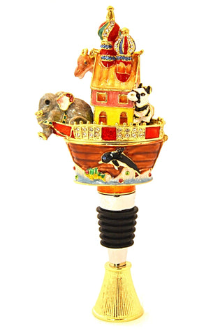 Noah's Ark Box Wine Bottle Stopper