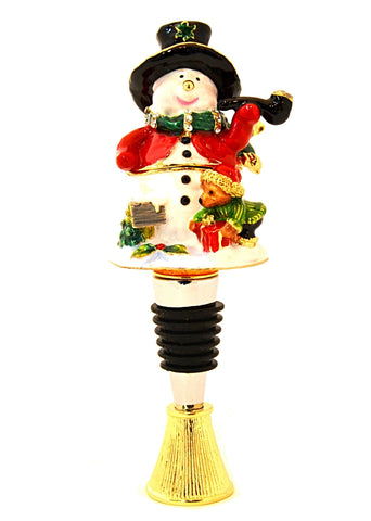 Snowman Box Wine Bottle Stopper