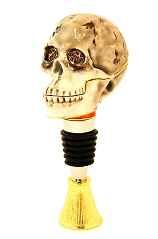 Skull Box Wine Bottle Stopper