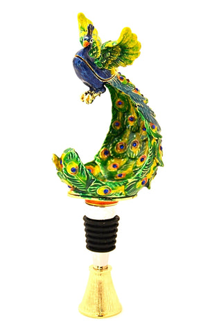 Peacock Box Wine Bottle Stopper
