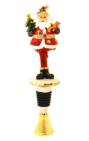 Santa Claus Box Wine Bottle Stopper