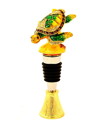 Sea Turtle Box Wine Bottle Stopper