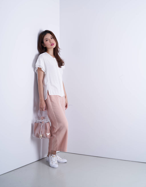 Elyna wide leg pants in pink