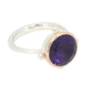 Portal Ring with Amethyst