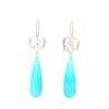 Angel Heart Earrings with Amazonite Briolettes