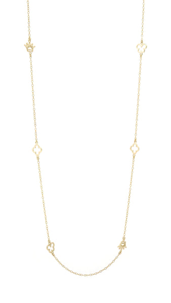 Charm Necklace Yellow Gold