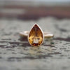 The Tear Drop Ring with Citrine