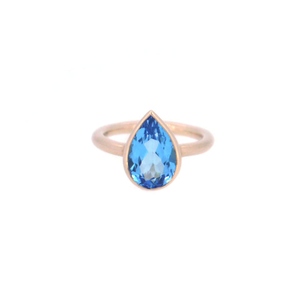 Tear Drop Blue Topaz