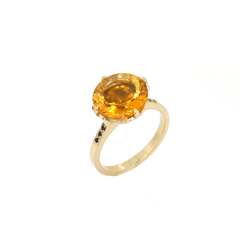 Garland Ring with Citrine