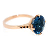 Garland Ring with London Blue Topaz