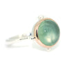 Portal Ring with Prehnite Cabochon