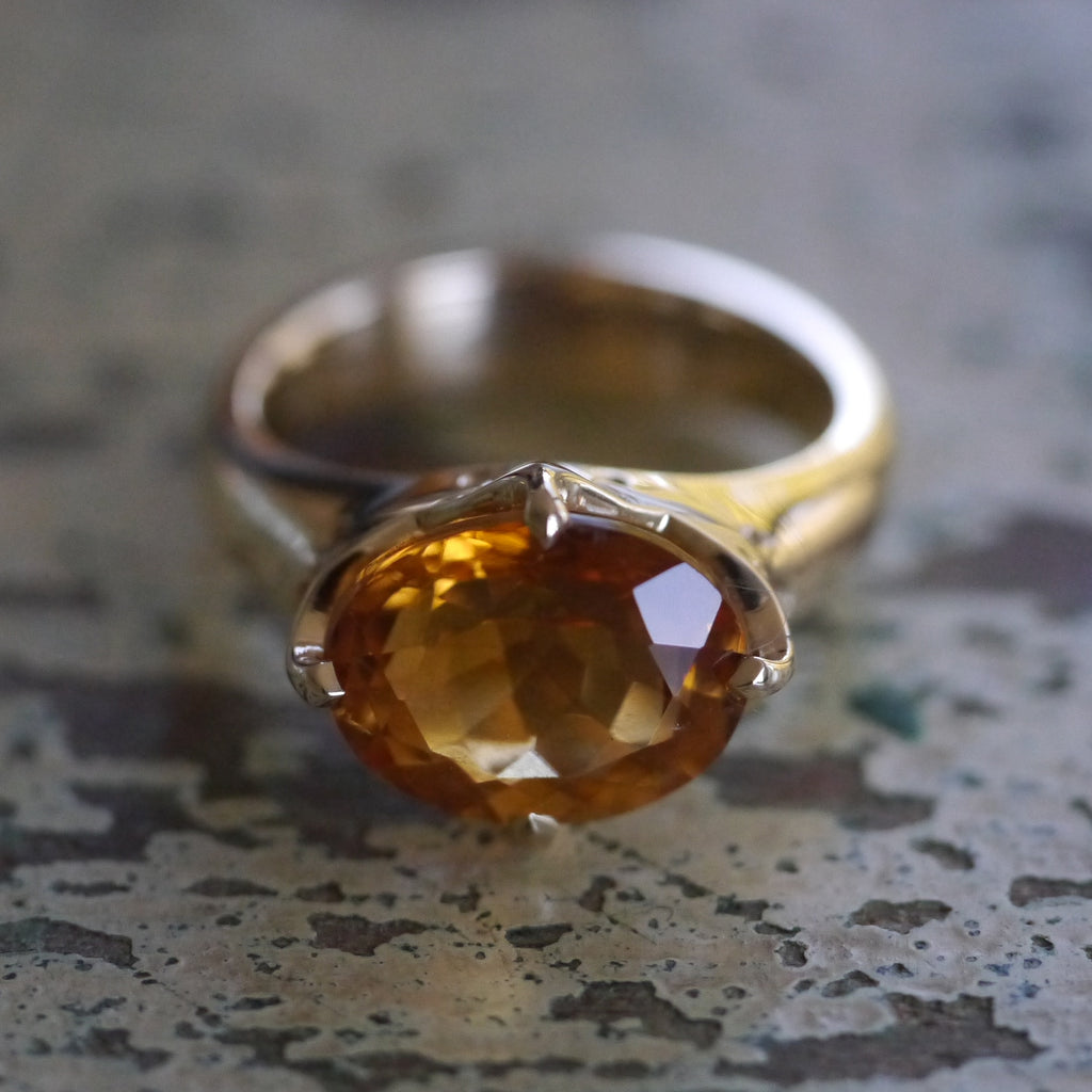 Romanesque Ring with Citrine